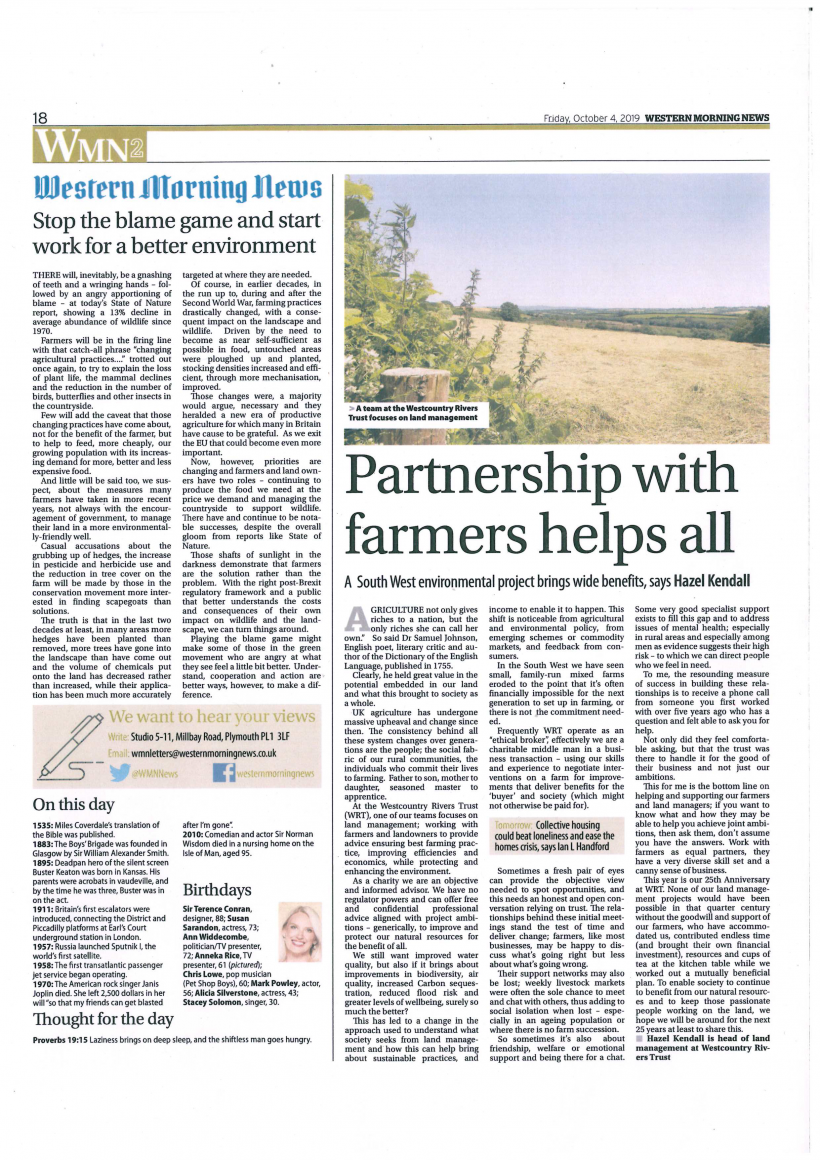Partnership with farmers helps all