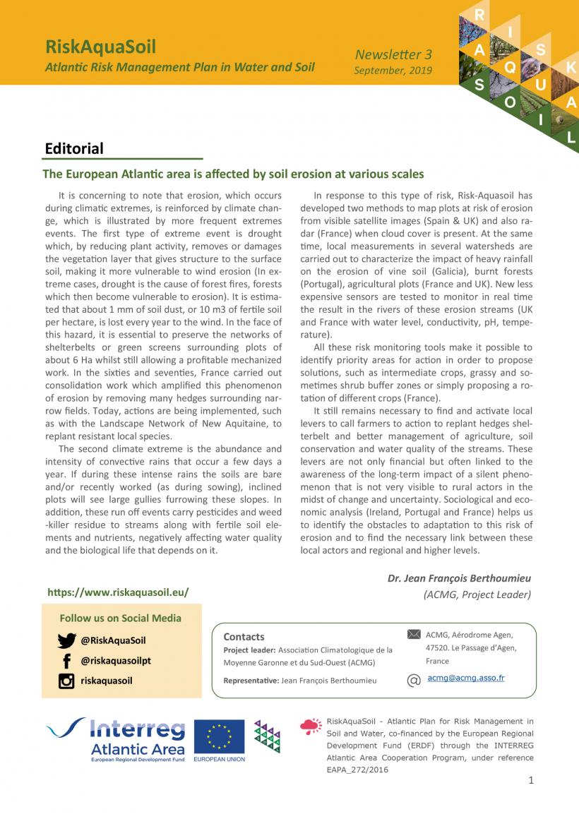 Newsletter 3 – September 2020