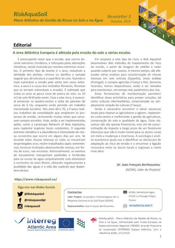 Newsletter 3 – Outubro 2019