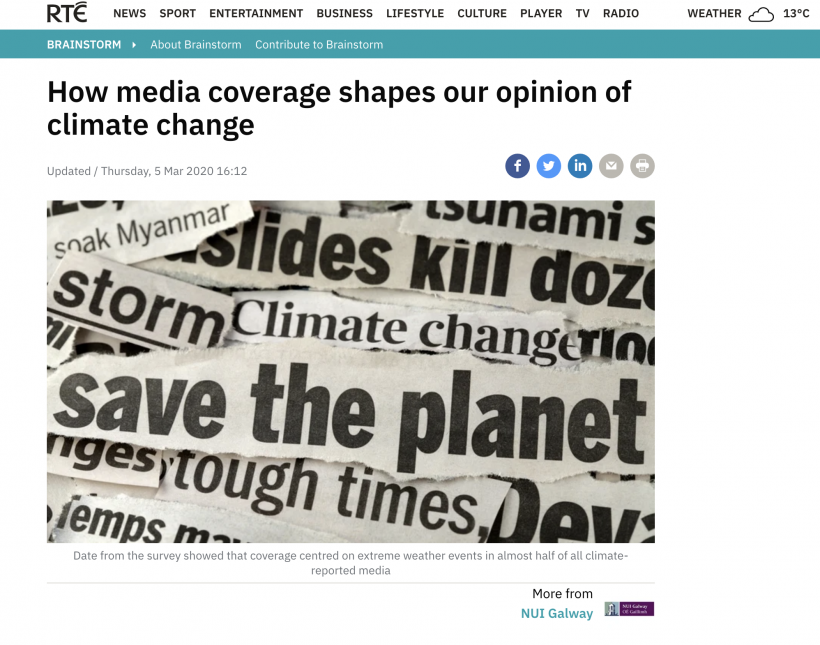 How media coverage shapes our opinion of climate change