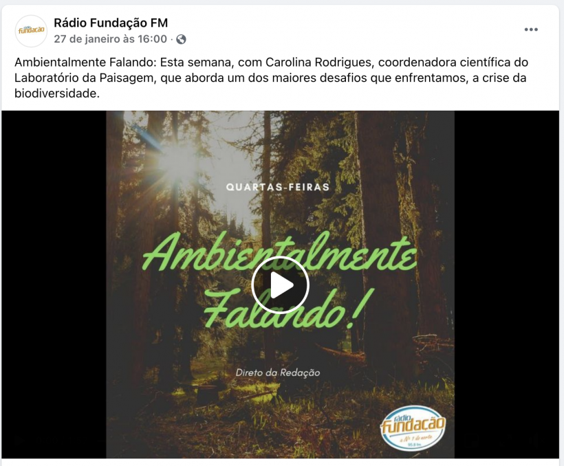 Ambientalmente Falando – Rádio Fundação